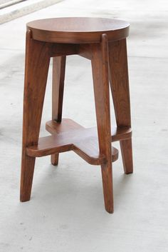 Pierre Jeanneret Stool from Chandigarh Administration Building | From a unique collection of antique and modern stools at https://www.1stdibs.com/furniture/seating/stools/