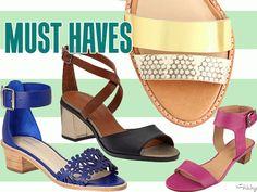 Must Haves: 25 Low Block Heel Sandals