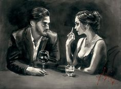 Intimate Moments IV (Black And White) by Fabian Perez, Art Print