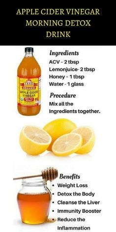 Apple cider vinegar morning detox drink - keep fit - HEALTH DRINK - . - Apple cider vinegar morning detox drink – keep fit – HEALTH DRINK – … – Apple c - Detox Diet Drinks, Detox Juice Recipes, Natural Detox Drinks, Smoothie Detox, Fat Burning Detox Drinks, Detox Juices, Natural Detox Cleanse, Drink Recipes, 3 Day Detox Cleanse