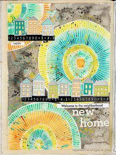 Promotion Card, Art Journal Tutorial, Magazine Collage, Circle Art, Art Journal Pages, Art Journaling, Handmade Tags, Flower Center, Craft Stick Crafts