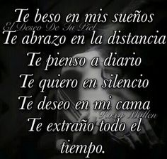 Words That Mean Love, Sad Love, Spanish Quotes Love, Love Poems, Amor Quotes, Care Quotes, Mistress Quotes, Hugs And Kisses Quotes, Distance Relationship Quotes