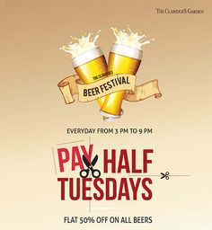 """""""Beer is proof that God loves us and wants us to be happy"""" ~ Benjamin Franklin  Do you agree? We do and we have FLAT 50% OFF ON ALL BEERS today!"""