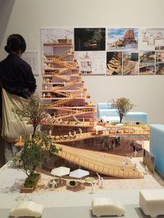 Concept Board Architecture, Dynamic Architecture, Architecture Presentation Board, Architecture Graphics, Sustainable Architecture, Architecture Design, Kindergarten Design, Landscape Model, Arch Model