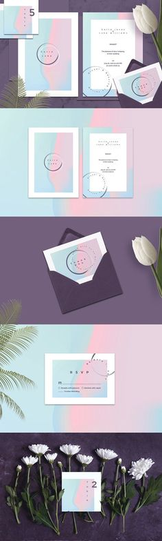 Modern minimal wedding collection by Polar Vectors on @creativemarket