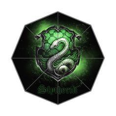 Harry Potter Hogwarts School Slytherin Logo Printed Fashion Style Umbrella Custom Foldable Rain Umbrella Wind Resistant Windproof Floding Travel Umbrella *** Visit the image link more details. (Note:Amazon affiliate link)
