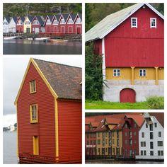 Colorful Norwegian buildings...