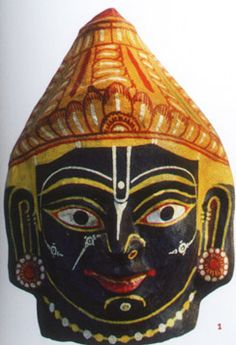 beautiful papier mache mask from orissa inspired by the patachitra tradition..