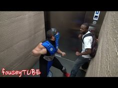 "I was loling so hard I was crying.....Watch ""Mortal Kombat Elevator Prank"" Video at The Root TV"