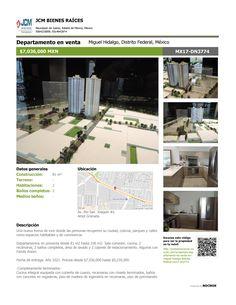 MX17-DN3774 Departamento en venta en Av. Rio San Joaquìn, Ampliación Granada, Miguel Hidalgo, Ciudad de México, Mexico. $7,036,000 MXN ¡Llamanos! (55) 53740834