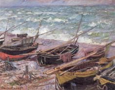 Claude Monet Fishing Boats painting is shipped worldwide,including stretched canvas and framed art.This Claude Monet Fishing Boats painting is available at custom size. Monet Paintings, Impressionist Paintings, Landscape Paintings, Abstract Paintings, Claude Monet, Artist Monet, Boat Painting, Painting Art, Art Japonais