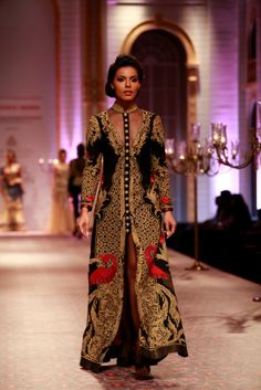 Mandira Wirk India Bridal Week 2013 Mumbai - high collar