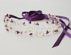 Flutter Purple Butterfly Hair Vine Pearl by jewellerymadebyme, £200.00