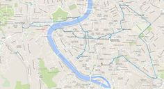 Rome in one day walking map Italy