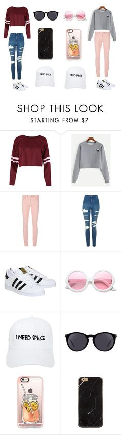 """Outfit #9 and #10"" by liyah-x ❤ liked on Polyvore featuring Balenciaga, Topshop, adidas, ZeroUV, Nasaseasons, Yves Saint Laurent and Casetify"