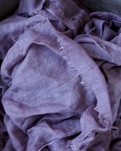 Purple Grapes were used to dye this wonderful piece of linen.