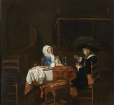 Joost van Geel (Rotterdam 1631 – 1698 Rotterdam), The Card Players. Oil on panel – 19 13/16 x 20 5/8 in. (49.5 x 51.5 cm.). William Thuillier @ Master Paintings Week 2014.
