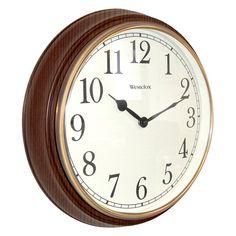 Westclox 15.5 in. Round Woodgrain Wall Clock - 73004P