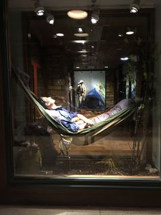This is a display window at Bass Pro Shops Gurnee. The Theme is hiking and…