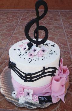 Pastel notas musicales Miriam Zarazua ArquiCake
