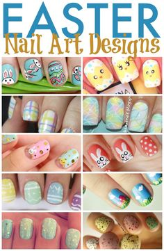 Celebrate Spring and Easter with these super cute Easter nail art designs.