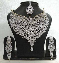 diamond studded statement choker necklace Diamond Indian wedding