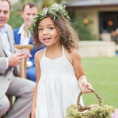 Leafy Flower Crown Simple Flower Crown, White Flower Crown, Floral Crown, Wedding Looks, Bridal Looks, Bridal Hairdo, Floral Headpiece, Maid Of Honor, Real Weddings