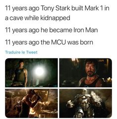 11 years ago, He became my favorite superhero & he always will be 😍 I love you 3000 Tony ❤😭😭😭 Marvel Jokes, Avengers Memes, Marvel Funny, Marvel Dc Comics, Marvel Avengers, Iron Man Tony Stark, Disney Marvel, The Villain, Marvel Cinematic Universe