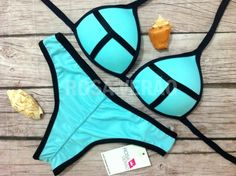 Biquíni 3D Cortininha azul bebê com bojo impermeável e calcinha empina bumbum #biquini #biquini3d #triangl #verao2015 #verao2016 #bikini #biquinicortininha #cortininha www.rosaverao.com.br