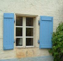 It's easy to make your own rustic shutters
