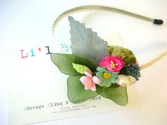 Vintage Inspired Fabric Flower Alice Band