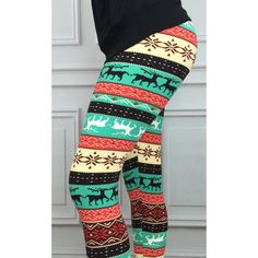 Snowflake Leggings Reindeer Leggings Fairisle Leggings Leggings... ($15) ❤ liked on Polyvore featuring pants, leggings, grey, women's clothing, fair isle leggings, nordic print leggings, christmas pattern leggings, christmas print leggings and grey leggings