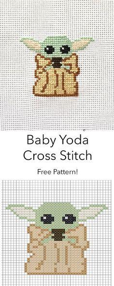 Baby Yoda Cross Stitch Pattern - knitting is as easy as 3 knitting . - Baby Yoda Cross Stitch Pattern – knitting is as easy as 3 knitting comes down to three esse - Disney Cross Stitch Patterns, Cross Patterns, Cross Stitch Designs, Beginner Cross Stitch Patterns Free, Modern Cross Stitch Patterns, Needlepoint Patterns, Counted Cross Stitch Patterns, Cross Stitching, Cross Stitch Embroidery