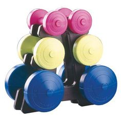 a1bc571aa8d York Fitness Dumbbell Weight Set and Stand - Multi-Colour