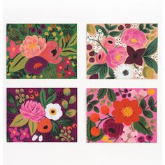 Assorted Vintage Blossoms Card Set – Paper Luxe
