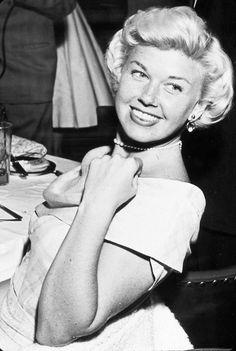Doris Day with Pearl Choker
