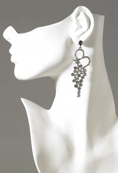 Jewelry - Rhinestone Cluster Earring from Camille La Vie and Group USA