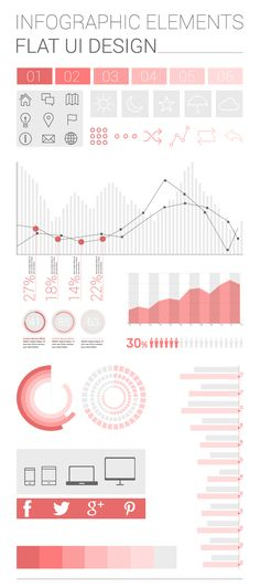 FREE Infographic Elements - Flat UI Design