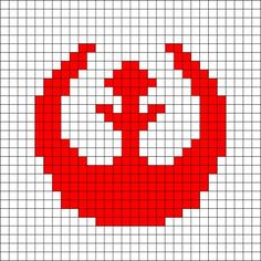 Rebel Alliance Logo Crochet Pattern- could easily do this as a cross stitch pattern as well