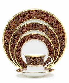"Noritake \""Xavier Gold\"" Dinnerware Collection"