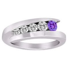 diamond and amethyst wedding ring love it! Always remember my day as purple is my theme