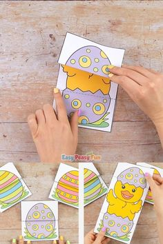 If you are looking for a quick no prep Easter project for your home or your classroom this Surprise Easter Egg Cards Paper Craft for Kids is just the craft! videos Surprise Easter Egg Cards Craft for Kids Recycled Crafts Kids, Paper Crafts For Kids, Spring Crafts For Kids, Paper Crafting, Diy For Kids, Wooden Crafts, Summer Crafts, Easter Egg Crafts, Easter Projects