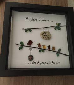 Seaglass, pebble art, teacher gift