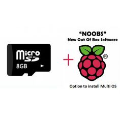 8GB Micro SD Card for Raspberry Pi B+ or Raspberry Pi 2 (RM1316) by robomart.com  8GB Micro SD Card for Raspberry Pi B+ or Raspberry Pi 2  MultiBoot 8GB Micro SD Card for Raspberry Pi B+ or Raspberry Pi 2