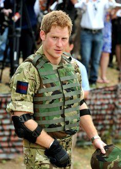 Prince Harry in Kingston, Jamaica  Soldier boy