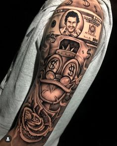 Forarm Tattoos, Forearm Sleeve Tattoos, Cool Arm Tattoos, Best Sleeve Tattoos, Forearm Tattoo Men, Tattoo Sleeve Designs, Tattoo Designs Men, Drake Tattoos, Gangsta Tattoos