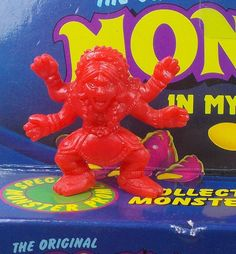 Monster in my Pocket - Series 1 - 19 Kali - Red - Premium - MEG Monster S, My Pocket, Mythical Creatures, Cool Toys, Vintage Toys, Dinosaur Stuffed Animal, Memories, Cool Stuff, Red