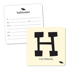 Party Ark's ''H is for Halloween' Invitation Cards'