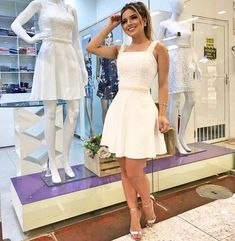 A-Line Short White Lace Homecoming Party Dress on Luulla White Lace, White Dress, Homecoming Dresses, Wedding Dresses, A Line Shorts, Dress For You, Dress Making, White Shorts, Party Dress