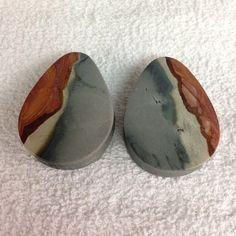 Polychrome Jasper Stone plugs by Evolve